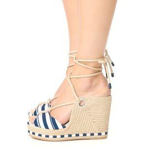 Shoes - Salvatore Ferragamo Evita Wedge Sandals